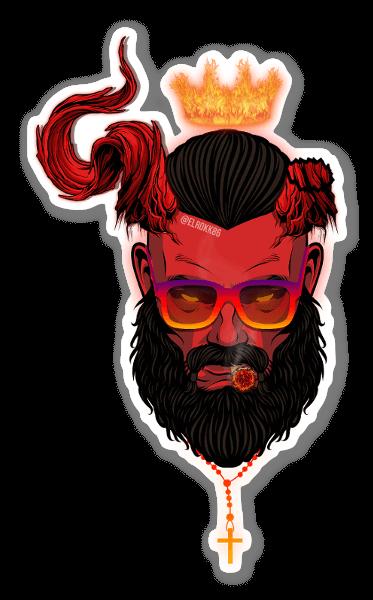 HellBoy New Age sticker