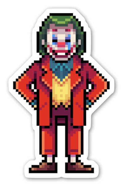 Joker Pixelado sticker