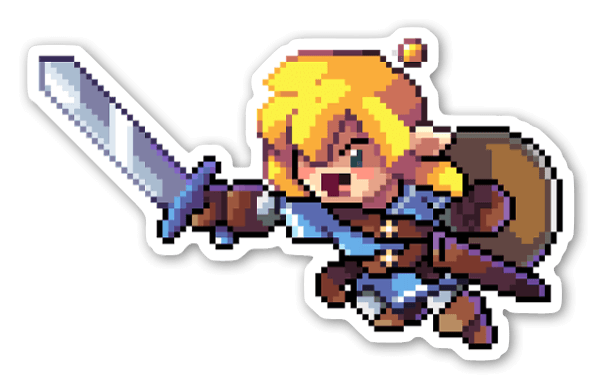 Link Pixelado sticker