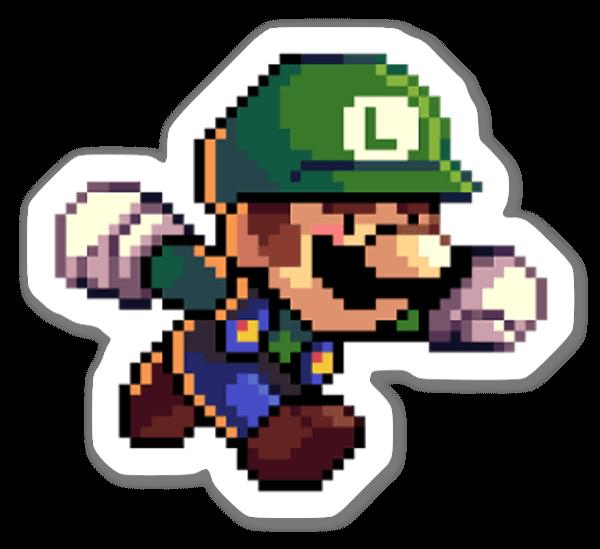 Luigi Pixelado sticker