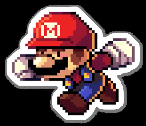 Pixel Mario sticker