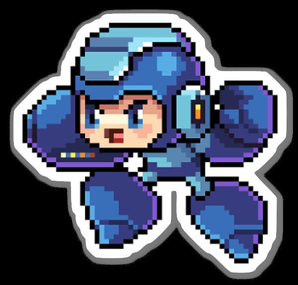 Megaman Pixel sticker