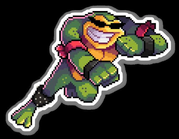 Pixel Rash sticker