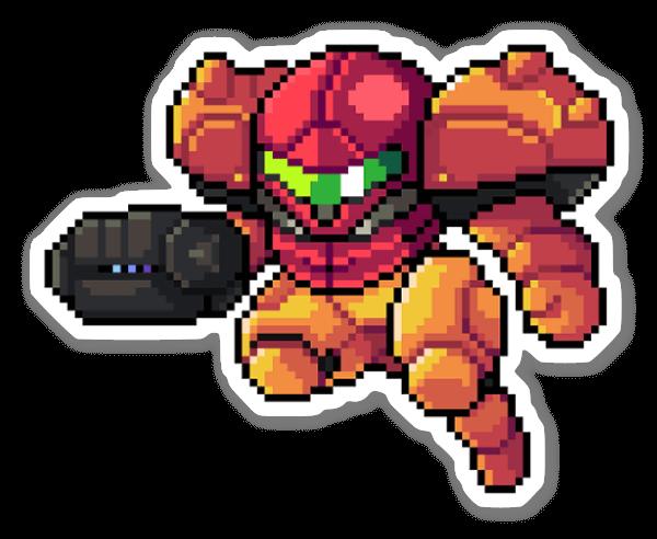 Pixel Samus sticker