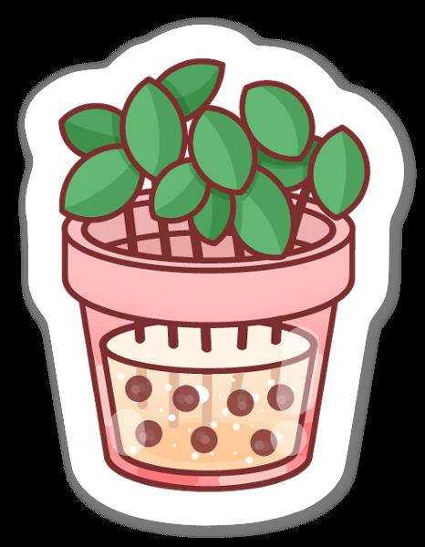 ボバと植物 ステッカー