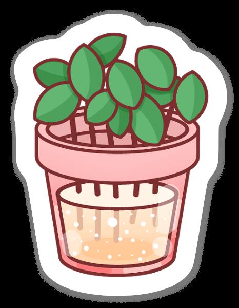Pot de fleurs sticker