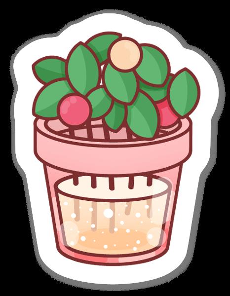 かわいい植物とフルーツ ステッカー