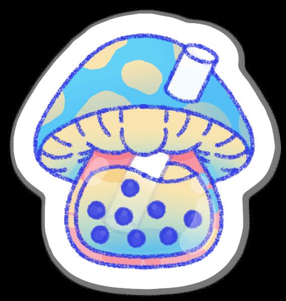 Cogumelos sticker