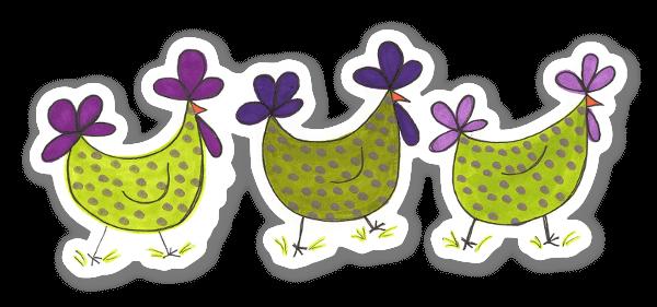 La Marche des Poulets sticker
