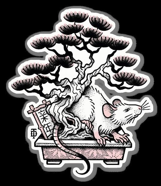 Ratto Bonzaï sticker
