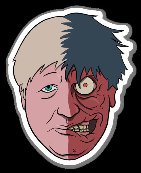 BORIS TWOFACE sticker