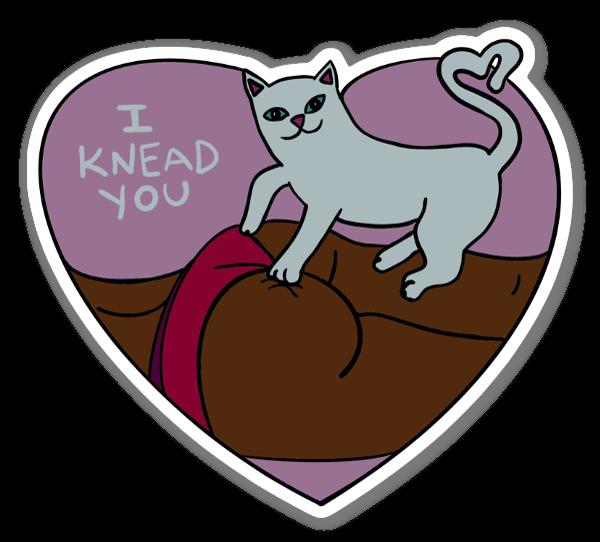 I Knead You (2) sticker