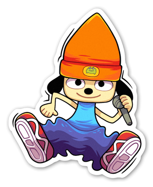 PaRappa the Rapper sticker