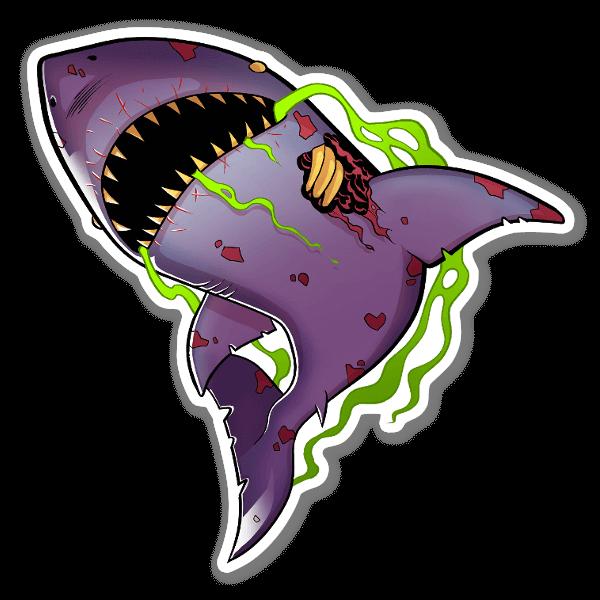 Zombie Shark sticker