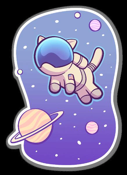 Gatto spaziale sticker