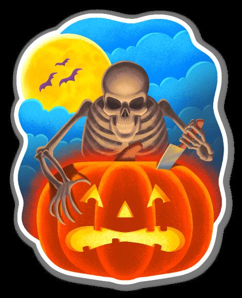 A Spooky Halloween Fright sticker