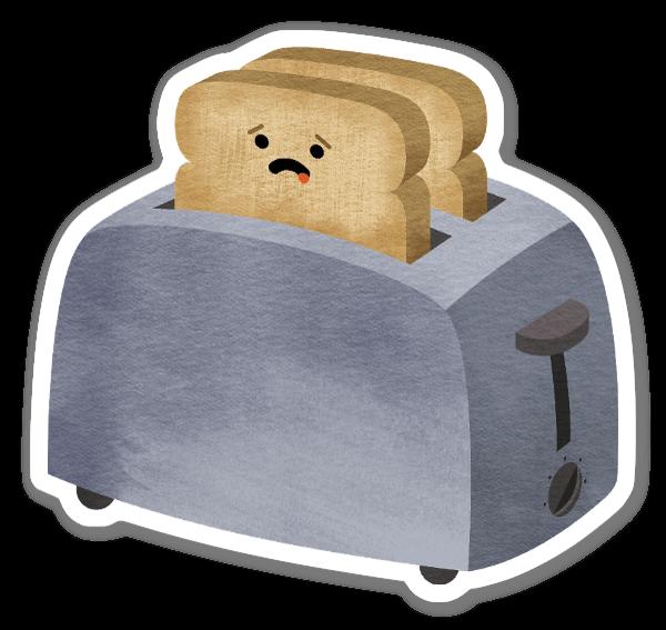 トースト ステッカー