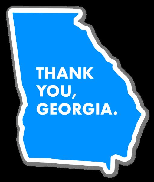 Thank You, Georgia. sticker