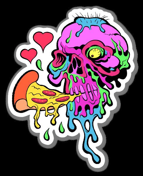 Pizza Skull 2 sticker