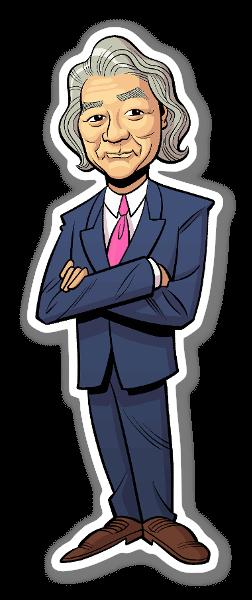 Michio Kaku sticker