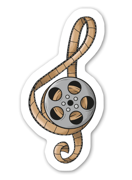 Music Film Roll sticker
