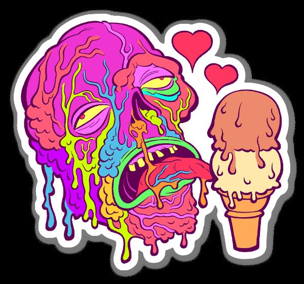Ice Cream Zombie sticker