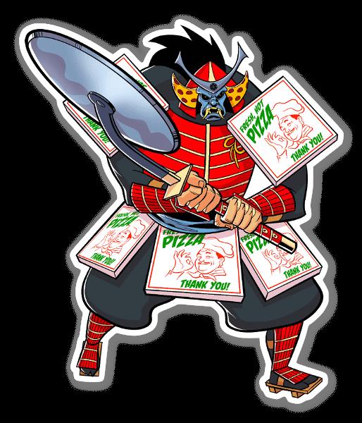 Pizza Samurai sticker
