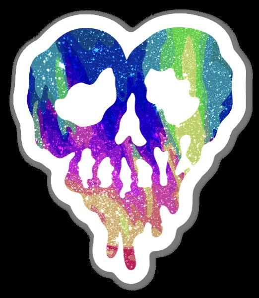 Coração Trippy Drippy Brilhantes sticker
