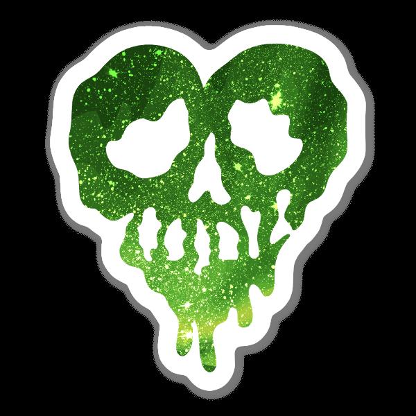 Coração Trippy Dippy Brilhantes Verdes sticker
