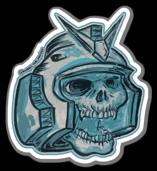 Gundam Skull sticker