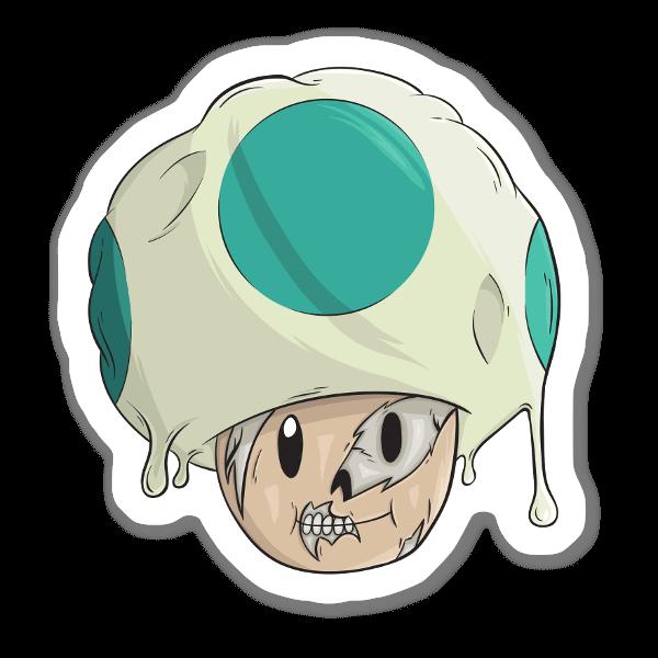 Horror Toad sticker