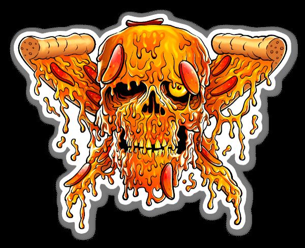 Death By Pizza sticker