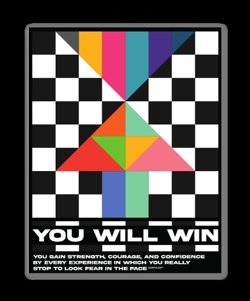You Will Win sticker