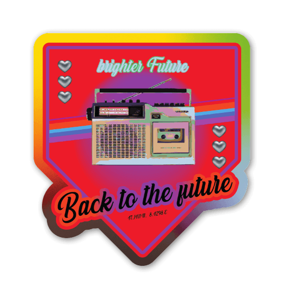 Back to the Future sticker