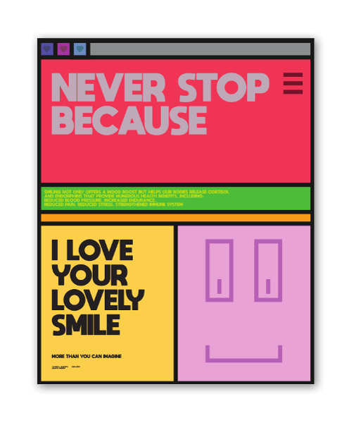 Never Stop Smiling sticker
