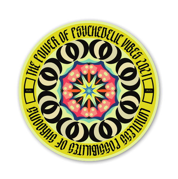 Power of Psychedelic Vibes  sticker