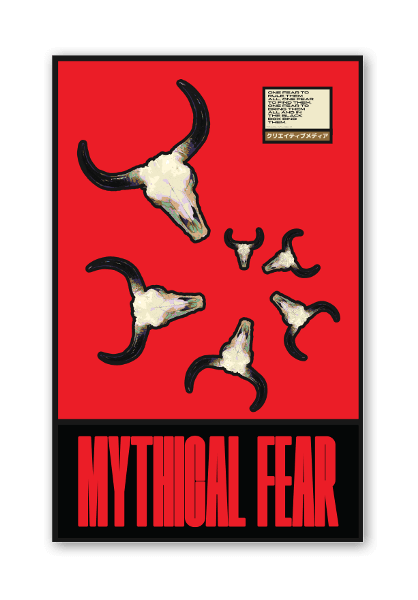 Mythical Fear sticker