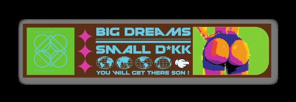 Big Dreams Small D*kk sticker