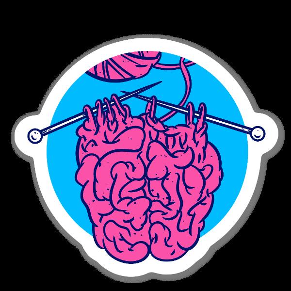 Tricotando um cérebro sticker
