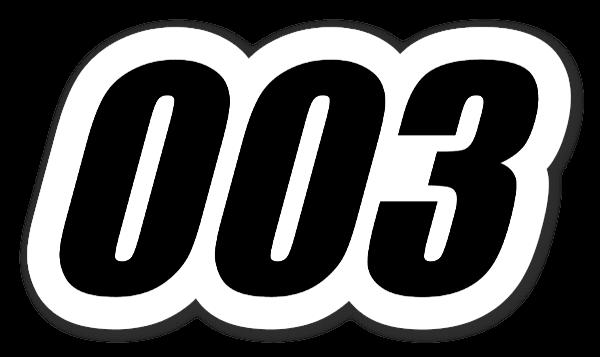 003 sticker