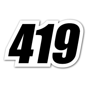 419 Racing nummer sticker