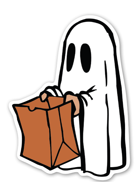 Ghosty bag sticker