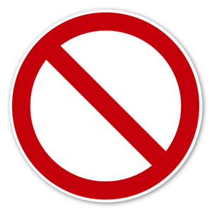 Prohibited sign sticker