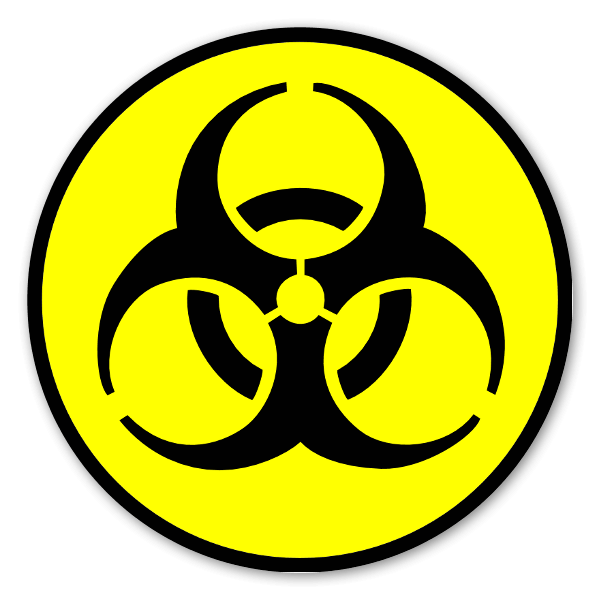 biohazard yellow with black sticker