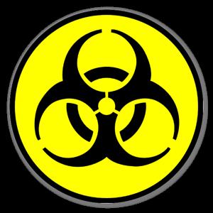 biohazard yellow with black sticker