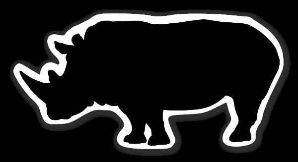 Rhino siluetti tarrat