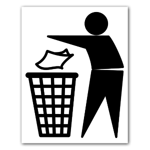 The Tidyman symbol sticker