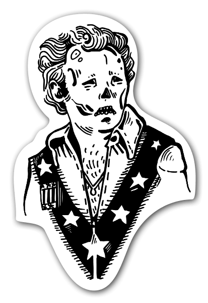 Bobby Punk Skull Stickers