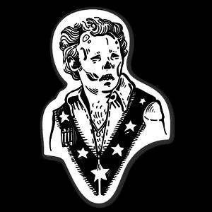 Evel skull sticker