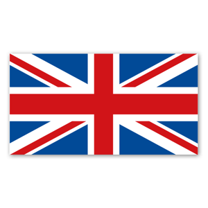 The Union jack flag sticker